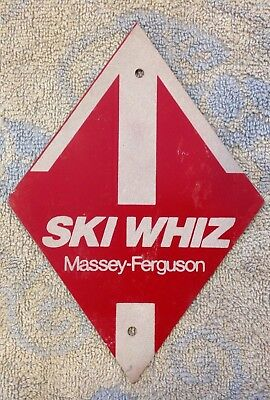 Old Rare Vintage Massey Ferguson Metal Snowmobile Trail Marker Tractor Sign
