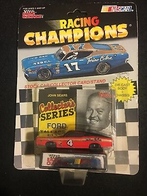 Racing Champions Stock Car Nascar John Sears #4 Red/black  W/card And Stand 1/64