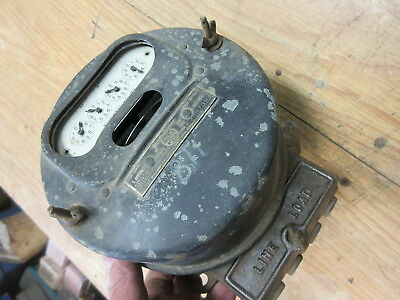 1921 antique westinghouse watthour meter type OA 5 amp steampunk art decor works