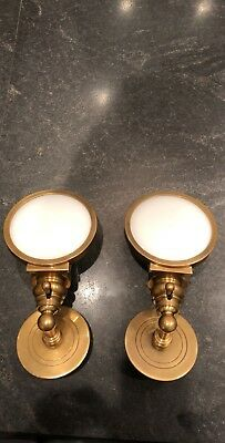Beautiful Set of Vintage Solid Brass Visual Comfort Wall Sconce