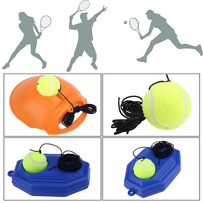 Tennis Ball Singles Training Practice Drill Balls Back Base Self-Study Trainer