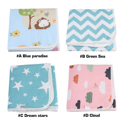 Popular Baby Waterproof Cotton Washable Urine Mat Nappy Bed Changing Diaper Pad