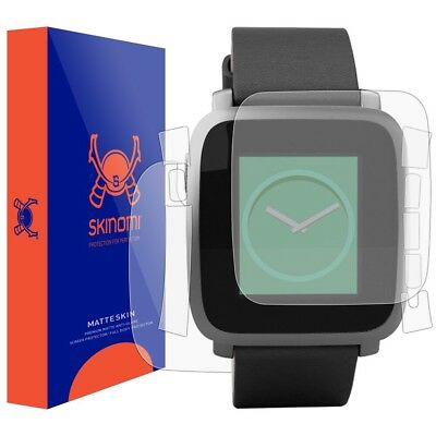 Skinomi FULL BODY (MATTE) Skin+Screen Protector for Pebble Time Steel