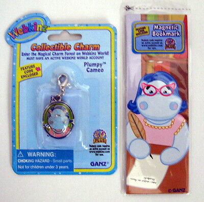Webkinz Collectible PLUMPY CAMEO CHARM & Bookmark Unused Codes/ Sealed FreeShp