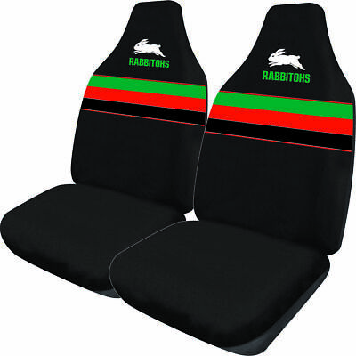 SOUTH SYDNEY RABBITOHS Official NRL Seat Covers Airbag Compatible *NEW 2018*