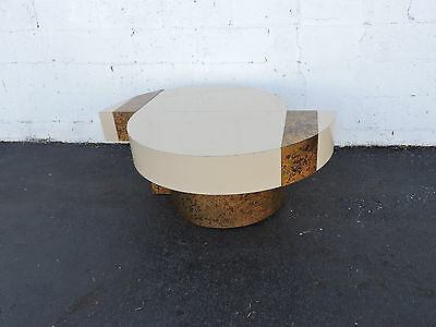 Vintage Mid Century Laminate Coffee Table and Distress Brass Plated Design 7388