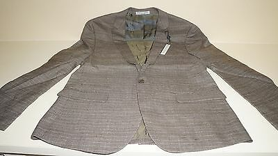 New Paisley & Gray Suit Jackets Plaid Slim Fit (38) w/Tags 4711J Brownish Gray