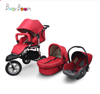 Baby Stroller 3 IN 1 Push Chair High View Pram Bassinet/Car Seat Foldable