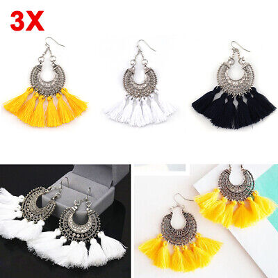 New Fashion Tassel Fashion Women Bohemian Earrings Jewelry Fringe Boho Dangle