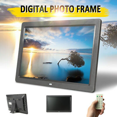 2019 NEW HD 12'' LED Digital Photo Frame Picture Alarm Clock MP4 Movie Player