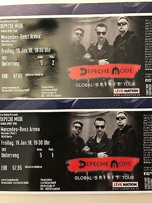 depeche mode konzert mercedes benz arena 1xblock 220 unterrang r14 eur 125 00. Black Bedroom Furniture Sets. Home Design Ideas