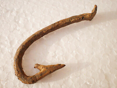 ANCIENT RARE Authentic Viking Iron Fishing Hook  8 - 10 century AD №1