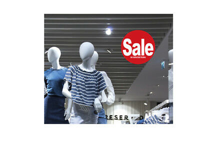 Window Sale Sticker  : Sale on selected items re-useable cling sticker