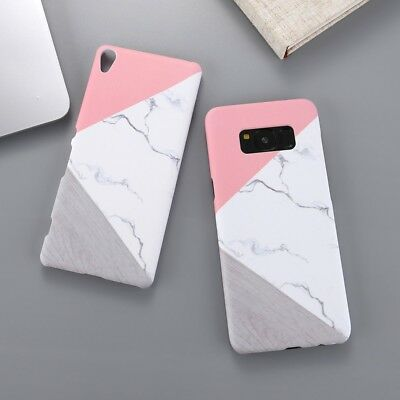 Ultra Thin Shockproof Granite Marble Contrast PC Hard Back Slim Phone Cover Case