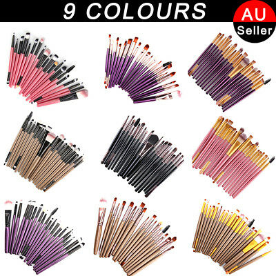 20 PCS Foundation  Eyeshadow Eyeliner Powder Make up Brushes Set Tool AU
