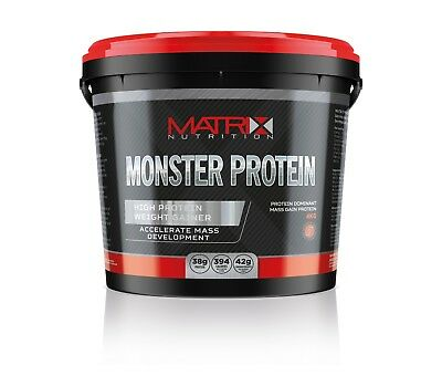 Weight Gainer Protein- High Calorie & Carbs- 4Kg Monster Protein By Matrix