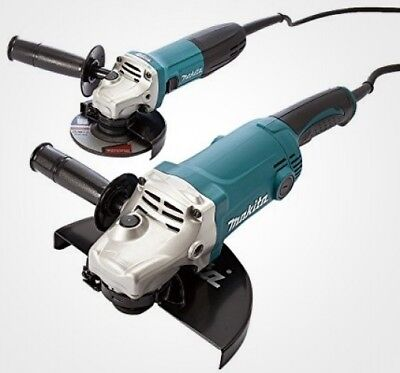 MAKITA Powerful Grinder Twin Pack Set 230 mm and 115 mm Angle Grinders