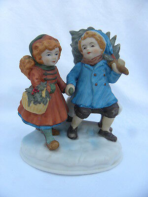 Avon 1981 First Edition Figurine Christmas Memories Sharing the Christmas Spirit