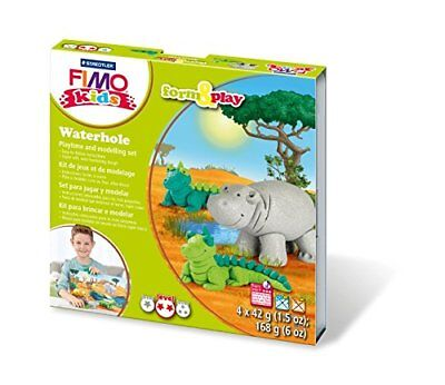 Fimo Kits For Kids Form & Play Polymer Modelling Oven Bake Clay - SET Waterhole
