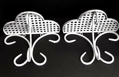 Shabby Chic Metal Wall Sconce Shelf Shabby Country Cottage White
