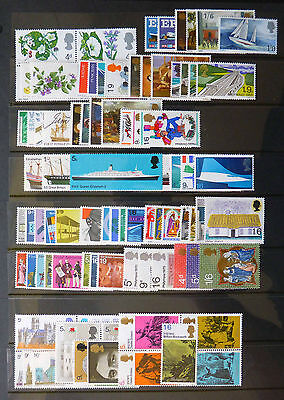 GB 1967-1970 Commemorative Stamps, Complete (24 sets)~Unmounted Mint~UK Seller