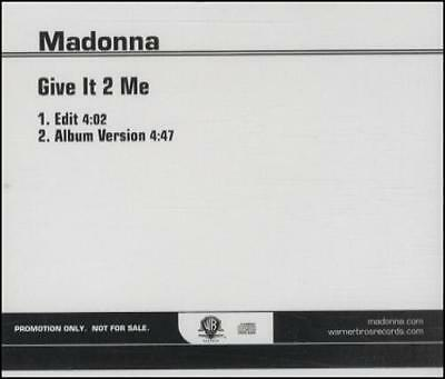 "Madonna Give It 2 Me USA CD single (CD5 / 5"") promo PRO-CDR-512704 WARNER 2008"