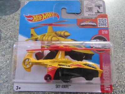 Hot Wheels 2016 #212/250 SKY KNIFE helicopter yellow HW Rescue Case B