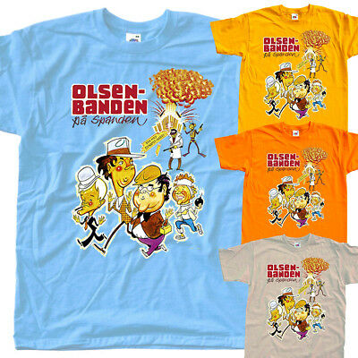 The Olsen Gang in a Fix V3 ,poster, T SHIRT YELLOW ORANGE all sizes S to 5XL