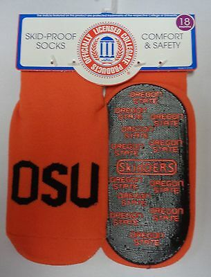 Skidders Toddlers No Skid Oregon State Socks NWT Sz 18 Months