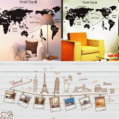 3 Types Wall Stickers Removable Vinyl Decal Home Art Decoration Travel Photo