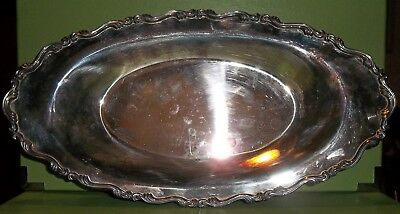 Vintage Silver-Plated WMA Rogers Oval Serving Tray