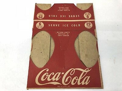 1950's Coca Cola Cardboard Carton For Bottles Never Used