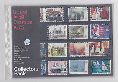 ref. 3351 ROYAL MAIL STAMPS 1975 COLLECTORS YEAR PACK