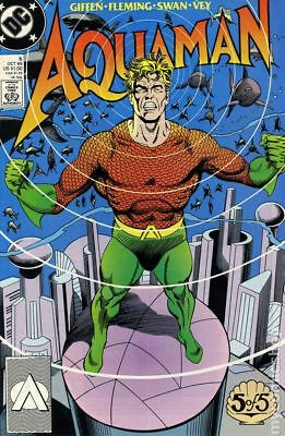 Aquaman (2nd Limited Series) #5 1989 FN Stock Image