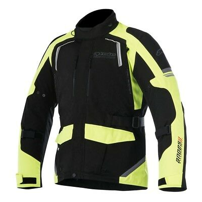 Alpinestars Andes V2 Drystar Motorcycle Textile Jacket Fluorescent Yellow Black