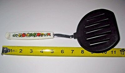 Vintage ~EKCO Short Slotted Nylon Spatula~SPICE of LIFE Handle~USA