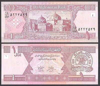 2002 Afghanistan 1 Afghani (P-64A) (Unc) Middle East Banknote