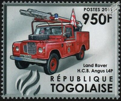 LAND ROVER 109 Series III HCB ANGUS L4P Fire Appliance Vehicle Car Stamp