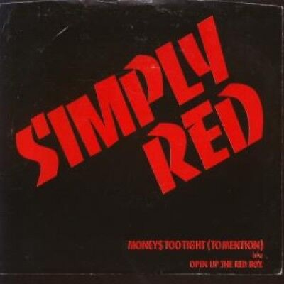 """SIMPLY RED Moneys Too Tight To Mention 7"""" VINYL US Elektra 1985 Promo In"""