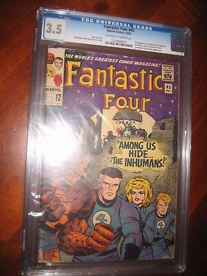 Fantastic Four Lot Of (2) #45 Vg- & Cgc 3.5