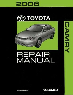 2006 Toyota Camry Shop Service Repair Manual Volume 2 Only