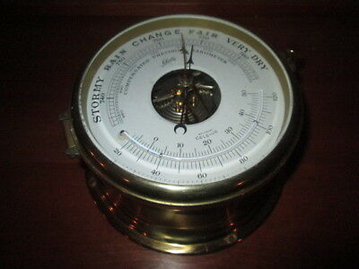 Schatz Compensated Precision Barometer Thermometer West Germany