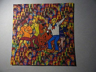Psychedelic Blotter Art Print perforated sheet/paper 15x15 - Scooby Doo
