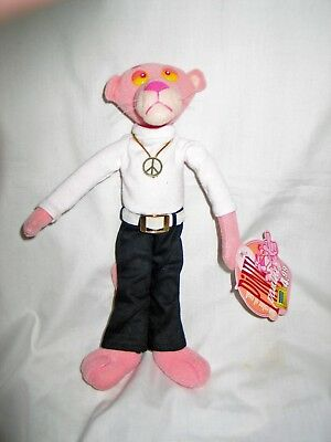 """10"""" Pink Panther w/ Peace Symbol Blockbuster Video 2001 The Color of Cool"""
