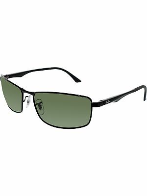aec96c8dd5 Ray-Ban Men s Polarized Active RB3498-002 9A-61 Black Rectangle Sunglasses