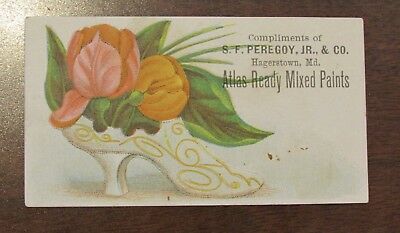 1887 SF Peregoy Jr & Co Hagerstown MD Atlas REady Mixed Paints Advertising Card