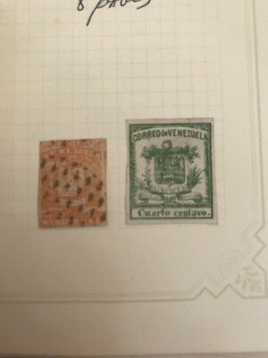 Over 270 Stamps Early Venezuela 1860'S And Up Unused Used Hinged Lot Collection