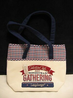 Longaberger Collectors Club 2007 Homestead Gathering Tote Bag - NWT (B32)