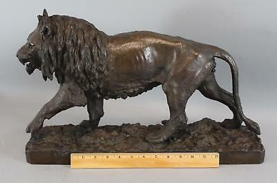 RARE Large 19thC American Ames Foundry Co Bronze Lion Exhibition Sculpture, NR