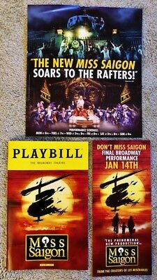Miss Saigon package - *playbill AND flyer*- Brand new - Free, same day shipping!